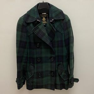 E•LAND American Classic Tartan Jacket with Belt